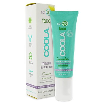 Coola Face Mineral Sunscreen SPF 30 Cucumber Matta Finish